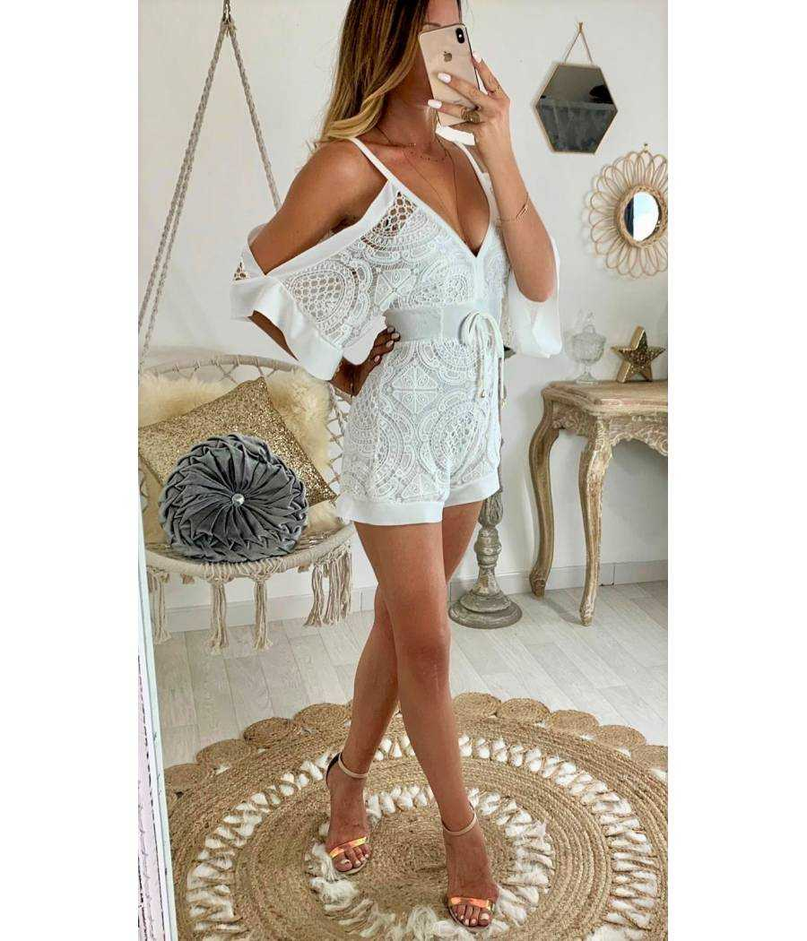"""Ma superbe combi-short blanche """"broderie anglaise"""""""
