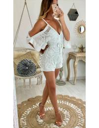 "Ma superbe combi-short blanche ""broderie anglaise"""