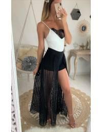 Ma jolie jupe longue noire et son short