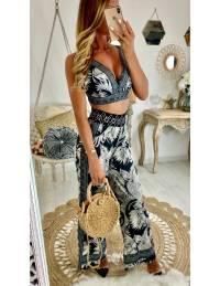 Mon ensemble pantalon et crop top Black & white