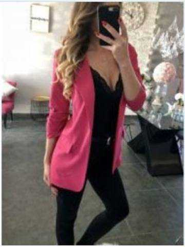 "Blazer loose ""fuchsia So chic"""