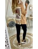 "ma jolie chemise camel ""dos décoré"""