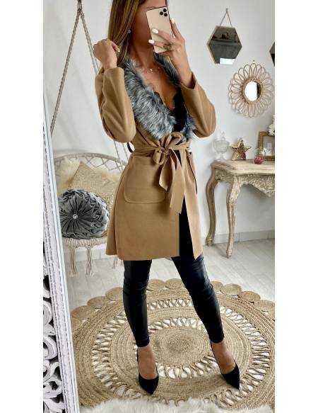 Mon manteau léger en lainage