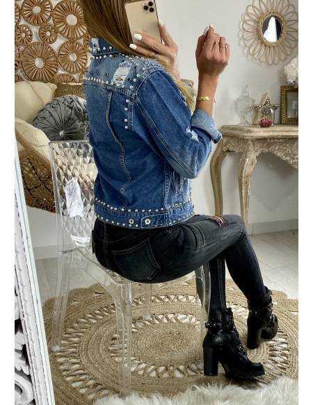 ma jolie veste en jeans loose & rock