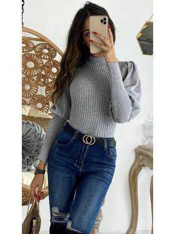 Mon pull gris tout doux