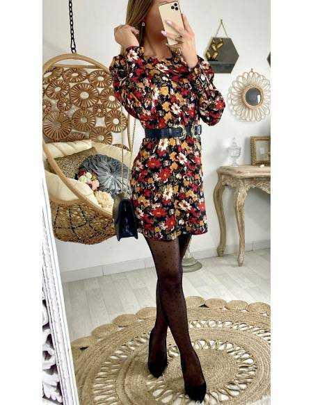 Ma superbe robe imprimée fleurs
