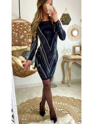 "Ma petite robe ""black et strass silver"""