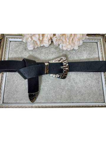 Ma jolie ceinture noire boucle argent