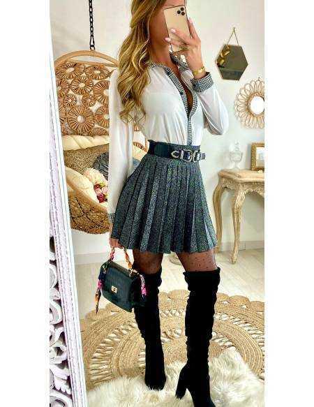"""Ma jolie jupe black scintillante """"plissée"""""""