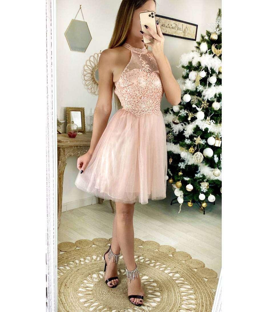 """Ma robe rose pâle """"tulle et buste brodé"""""""