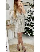 """Ma robe cache coeur """" tout en sequins gold"""""""