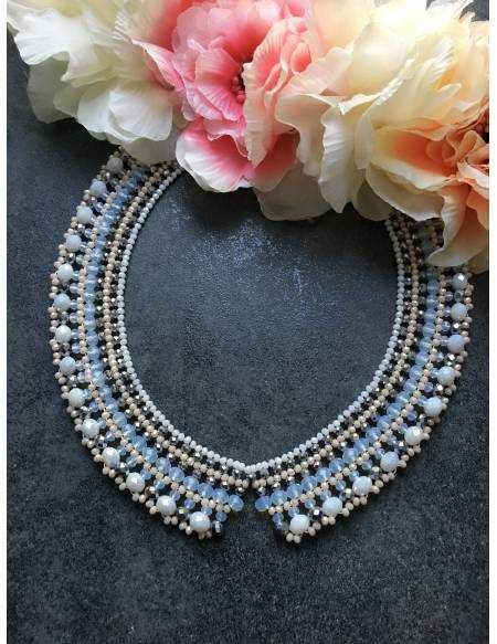 "Mon collier en perle ""Rose nude"""