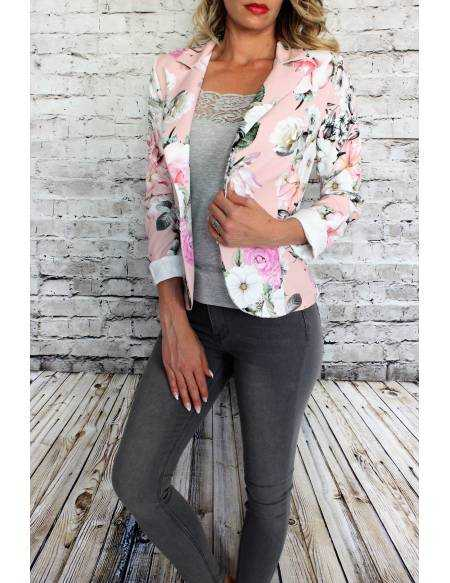"""Mon blazer rose imprimé """"Flowers"""""""