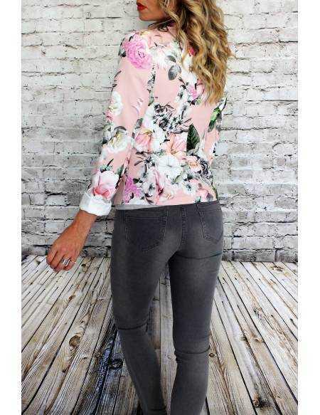 Mon blazer rose imprimé