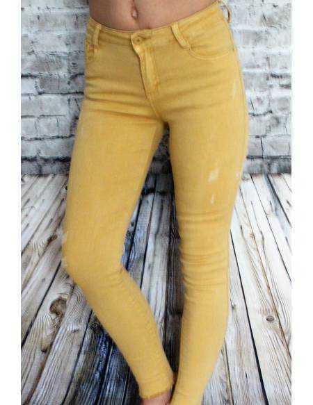 "Pantalon medium ""Joli moutarde"""