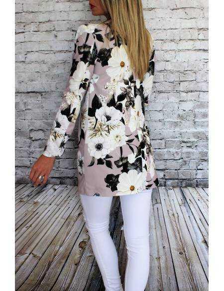 Manteau léger rose