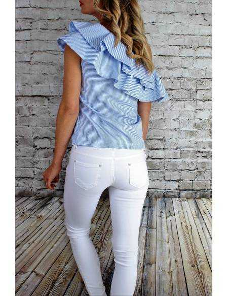 Blouse fines rayures