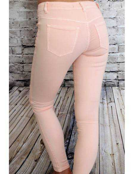 Jeans rose pâle