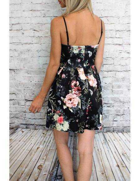 Ma petite robe noire fleurie