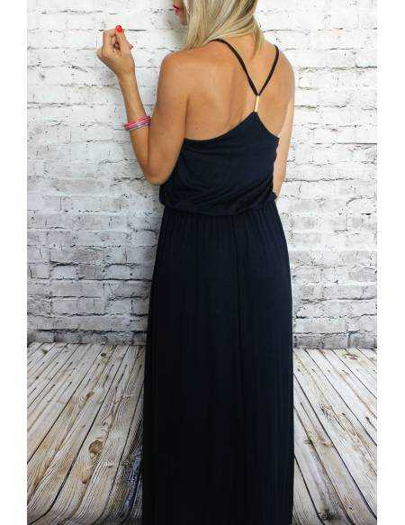 Ma jolie robe longue bleue marine