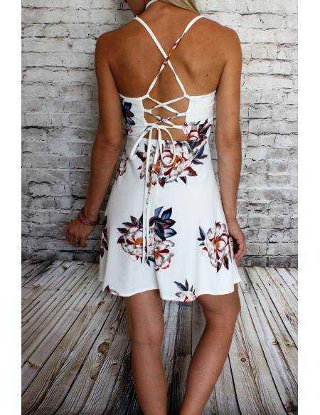 Ma petite robe blanche imprimé