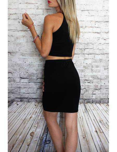 Ensemble top + jupe noir