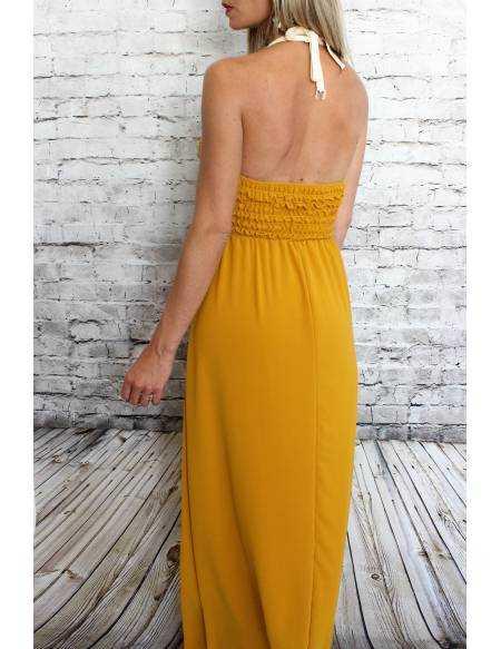 Ma robe longue moutarde