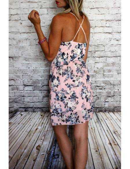 Ma petite robe rose  fleurie et dentelle