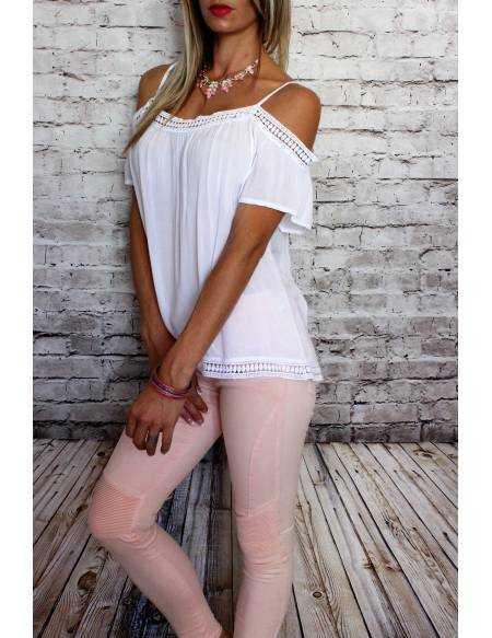 "Ma jolie blouse blanche ""dentelle assortie"""