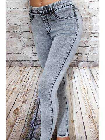 """Jeans gris """"délavé"""""""